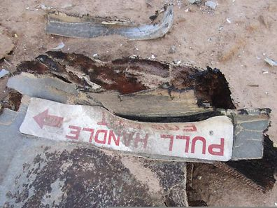 Debris at the crash site of Air Algerie flight AH5017 near the northern Mali town of Gossi