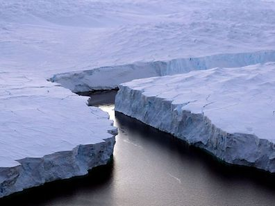 Illustration photo of an iceberg breaking off the Knox Coast in the Australian Antarctic Territory