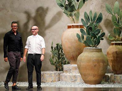 Italian designers Domenico Dolce (R) and Stefano Gabbana