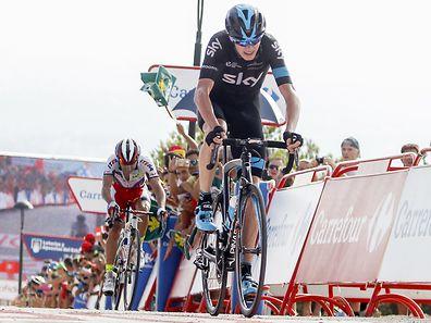 Fußbruch: Nach seinem Sturz auf der achten Etappe ist die Vuelta für Christopher Froome (Sky) beendet.