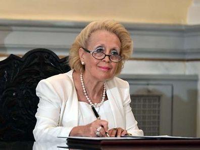 Vassiliki Thanou, 65 ans, est la présidente de la Cour suprême et doit assurer ses fonctions jusqu'au déroulement du scrutin anticipé.