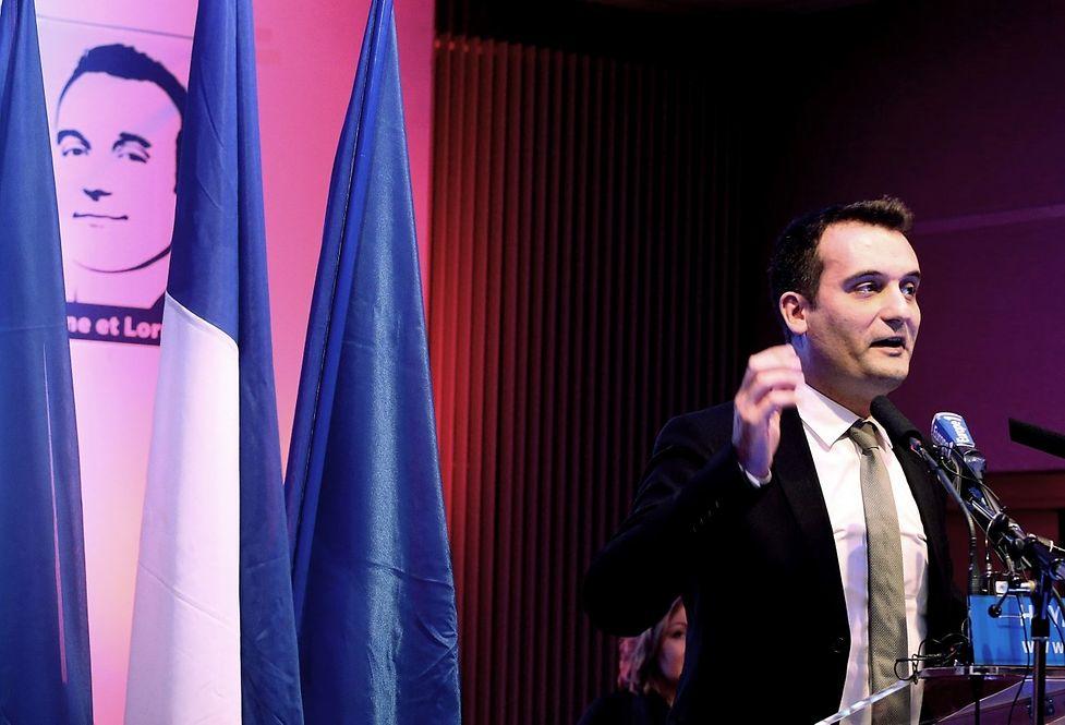 Florian Philippot à Hayange, le 25 novembre