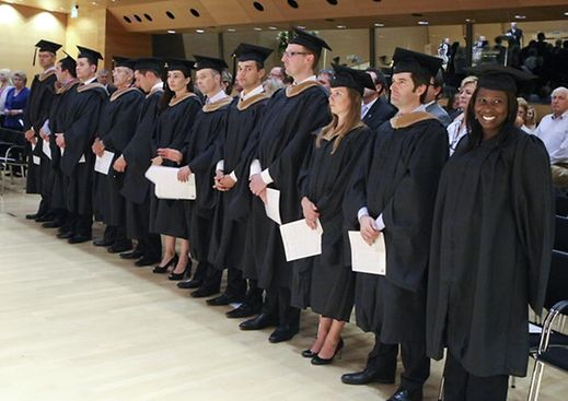 2012 MBA and Certificate graduates at Sacred Heart's John F. Welch Business College in Luxembourg