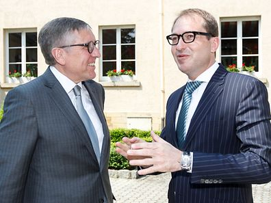 François Bausch (l.) and Alexander Dobrindt at a meeting in Luxembourg earlier this year