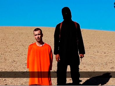 A still image taken from a purported Islamic State video released September 13, 2014, of British captive David Haines
