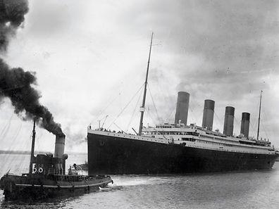 Die Titanic beim Start ihrer tragischen Jungfernfahrt.
