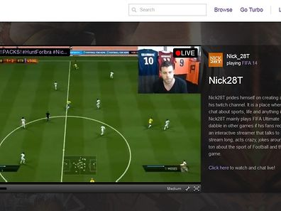 Auf twitch.tv können Computer-Gamer Live-Videos von ihrem Spielverlauf präsentieren.