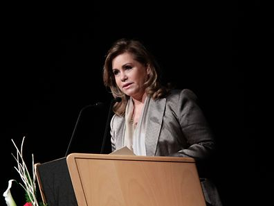Grand Duchess Maria Teresa at an event in 2014