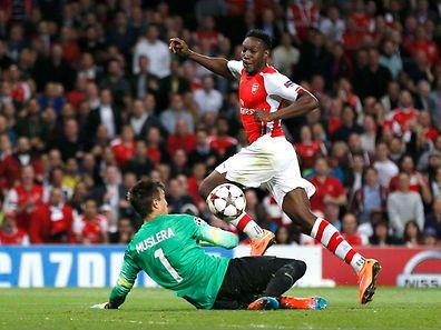 Danny Welbeck hatte maßgeblichen Anteil am Sieg Arsenals.