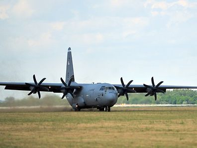 Illustration photo of a US Air Force C-130J Super Hercules from Ramstein Air Base, Germany