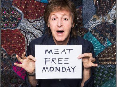 """Paul McCartney wirbt für einen """"fleischlosen Montag""""."""
