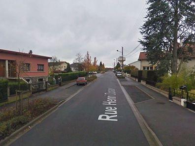 La rue Henri Dunant à Briey