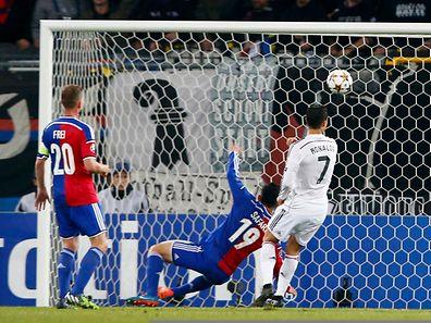 Cristiano Ronaldo sicherte Real Madrid den Sieg im Spiel gegen den FC Basel.