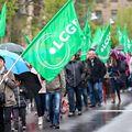 Der LCGB protestierte vor dem Parlament gegen die Reform der Mitbestimmungsgesetzgebung.