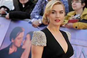 Kate Winslet in London. Aber wo ist Leonardo DiCaprio? Foto: Andy Rain