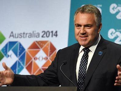 Treasurer Joe Hockey speaks at the G20 meeting