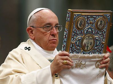 Pope Francis during mass marking the 100th anniversary of the Armenian mass killings