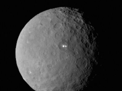 This image was taken by the Dawn spacecraft of dwarf planet Ceres that continues to baffle NASA and scientists