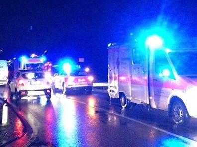 An dem Unfall waren zwei Autos beteiligt.
