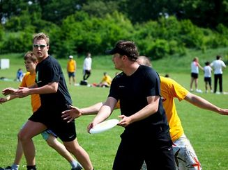An Ultimate Frisbee tournament