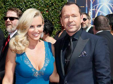 Jenny McCarthy (l.) und Donnie Wahlberg, hier zu sehen bei den Creative Arts Emmy Awards Mitte August.