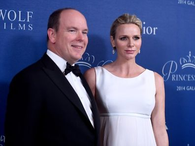 Prince Albert II of Monaco (L) and Princess Charlene of Monaco attend 2014 Princess Grace Awards Gala at Regent Beverly Wilshire Hotel on October 8, 2014 in Beverly Hills, California.