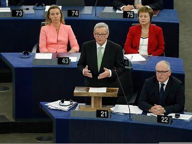 Jean-Claude Juncker am Mittwoch vor dem Europaparlament.