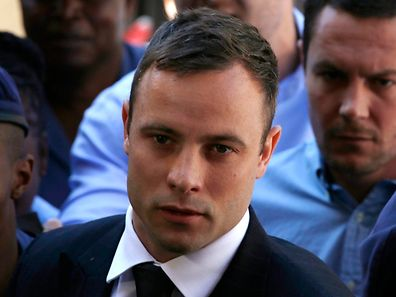 Oscar Pistorius arrives at the North Gauteng High Court in Pretoria October 21