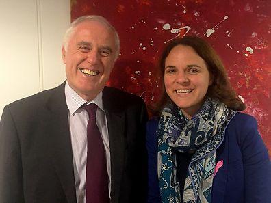 Ireland Ambassador Peadar Carpenter with Integration Minister Corinne Cahen