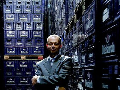 A photo of Yves Busschot when his was director general of Brasserie de Luxembourg