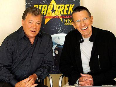 Zum 40. Geburtstag von Star Trek gaben Shatner (l.) und Nimoy einen gemeinsames Interview.