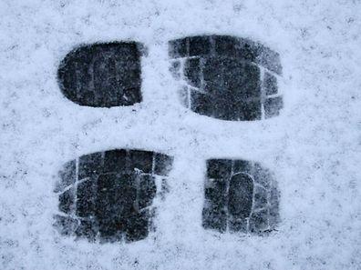 Dank der Spuren im Schnee konnte der Mann überführt werden.
