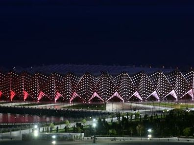 The Crystal Hall in Baku, dedicated to handball and indoor volleyball events during the inaugural 2015 European Games