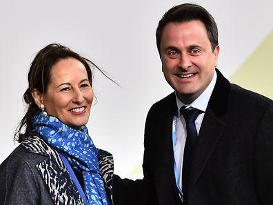 Premier Xavier Bettel wurde in Paris von der französischen Nachhaltigkeitsministerin Ségolène Royal empfangen.
