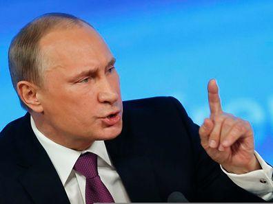Putin lud am Donnerstag zur jährlichen Pressekonferenz ein - 1200 Journalisten kamen.