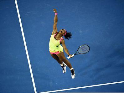 Serena Williams freute sich sichtlich über den Sieg.