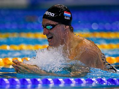 Laurent Carnol of Luxembourg swims in the men's 200m breaststroke heats at the European Swimming Championships in Berlin August 20, 2014