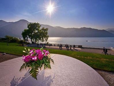 La Villa Lario est accessible en bateau, au bord du lac de Côme.