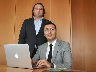 Le fondateur de reclamation.lu, Abidin Karabulut, à droite, accompagné de son conseiller, Faruk Durusu