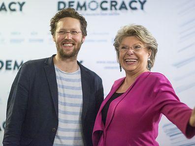 Die frühere EU-Kommissarin Viviane Rediung und der grüne Europa-Abgeordnete Jan Philipp Albrecht.