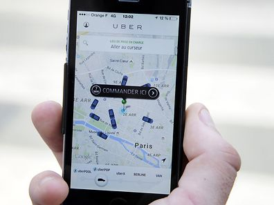 The French version of the Uber app to order a UberPop cab
