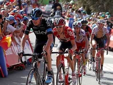Christopher Froome (v.) und Fränk Schleck (rechts) fuhren gemeinsam ins Ziel.