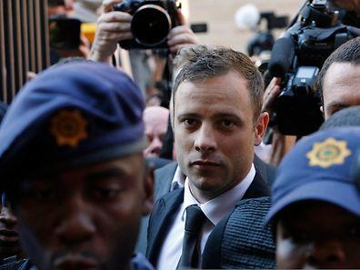 Oscar Pistorius arrives at the North Gauteng High Court in Pretoria September 12