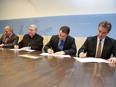 Das Abkommen wurde am Montag im Staatsministerium unterschrieben.
