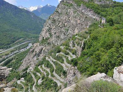 Die Lacets de Montvernier müssen auf der 18. Etappe erklommen werden.