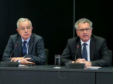 Pierre Gramegna (r.) and Alain Lamassoure