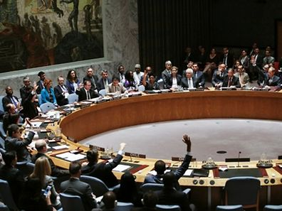 Members of UN Security Council vote on a draft resolution for establishing a tribunal to prosecute those responsible for the MH17 flight crash