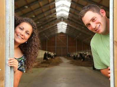 Victoria and Guy at the farm in Alzingen