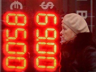 Der Rubel befindet sich in einem Tief.