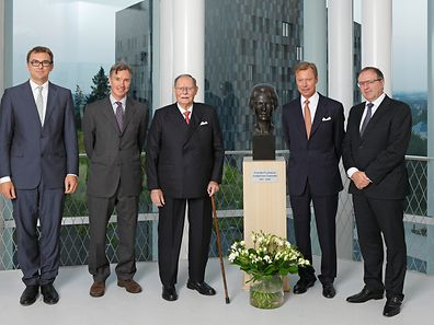 Stephan Gehmacher, Prince Guillaume, Grand Duke Jean, Grand Duke Henri and Pierre Ahlborn (l.t.r.)